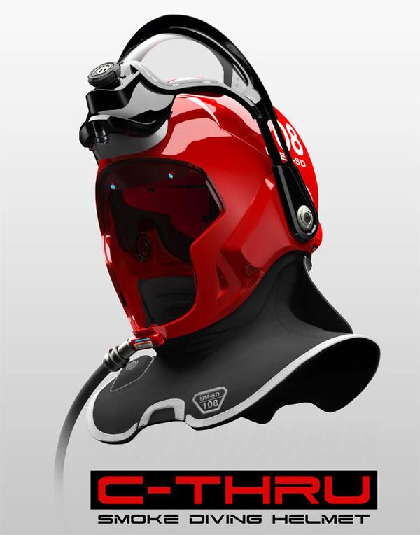 C Thru Smoke Diving Helmet #tech #modern #design #futuristic #craft #illustration #industrial #art