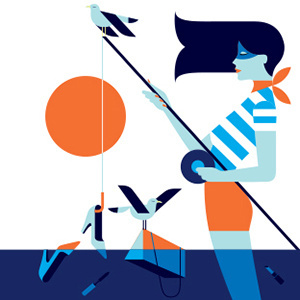 BE - Malika Favre #illustration #minimal #geometric