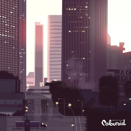 tumblr_lxnv43tQAs1r9626to1_1280.jpg 1.000×1.000 pixels #city #color #kevin #illustration #dart