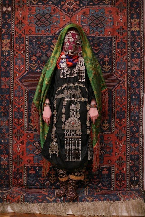 suzani:Avar woman (Caucasus), wedding traditional costume. Ethnic groups living in the Russian republic of Dagestan, villageRugudja, triba #fashion #pattern #culture #style