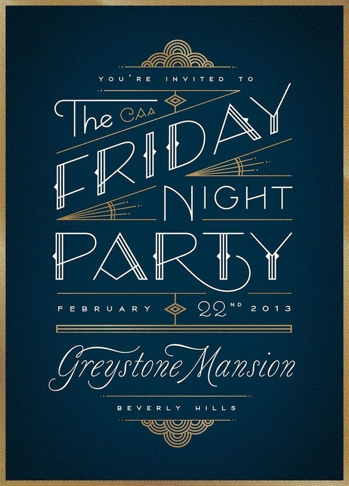 CAA Friday Night Party by Jessica Hische #print #typography