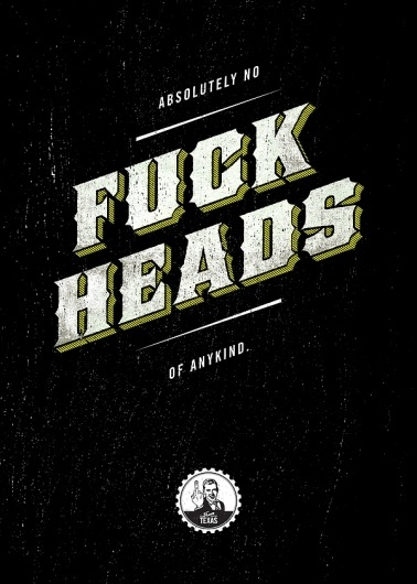 Absolutely... on the Behance Network #texas #fuck #offensive #typography