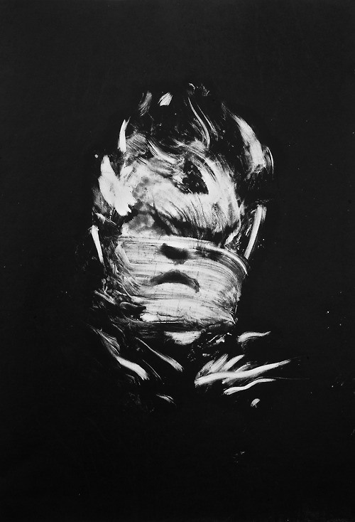 Nicole Coson | PICDIT #abstract #white #black #portrait #art #painting