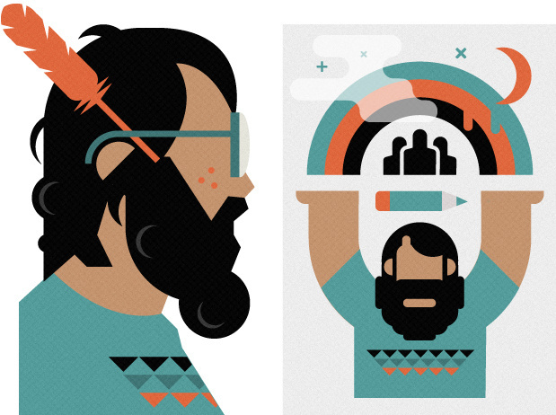 Muzik3 #geomatric #face #character #illustration