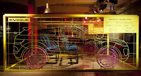 Range Rover Evoque Wireframe Unveiled - BRITISH CAR ENTHUSIASTS #exhibition #design #graphic #environment