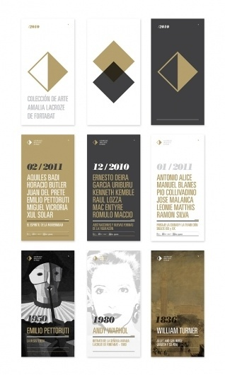 Fortabat Art Collection Identity on the Behance Network #gold #logo #black #branding