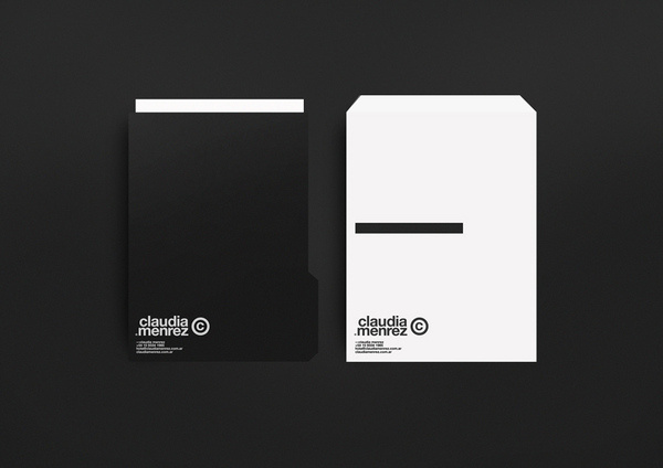 Claudia Menrez® #diseo #white #branding #argentina #stationery #design #color #minimalism #black #pure #corporate #brand #identity #buenos #and #logo #helvetica #aires