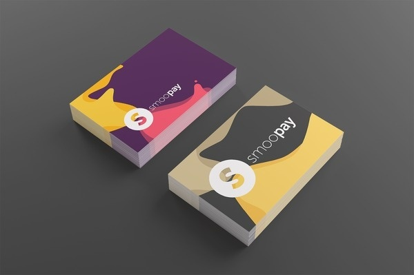 Business Cards Smoopay #flat #business #card #print #design