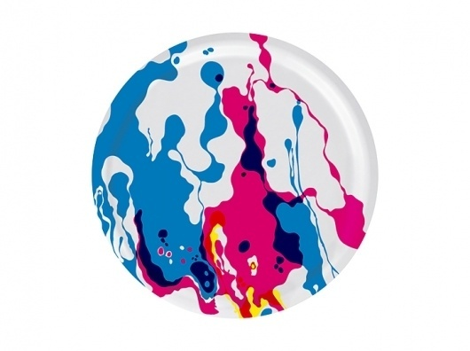 Marble4420 | Stockholm Designlab #plate #abstract #pattern #round #colour