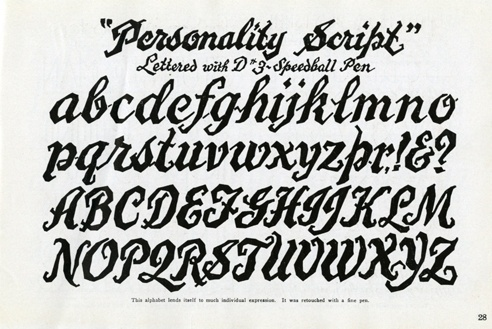 Speedball Text Book 1933 #calligraphy #lettering #script #drawn #pen #hand #typography