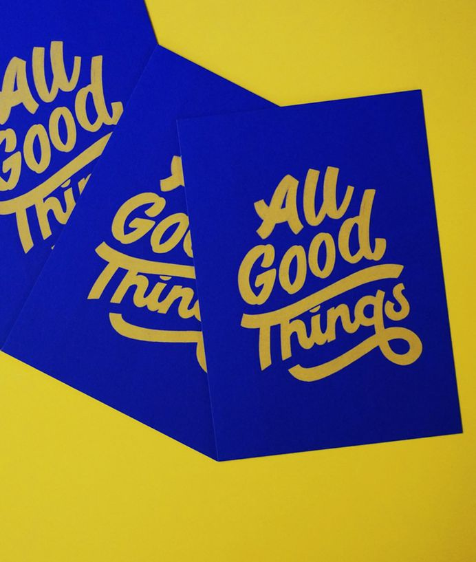 Hand-lettered postcards by Lana Hughes that celebrate a Festival of Fonts | Creative Boom