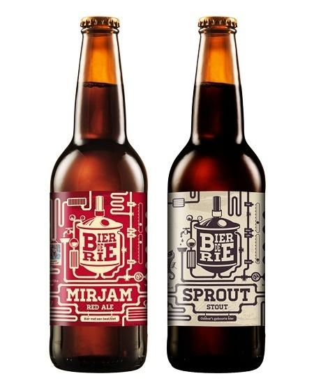Bierderie Bottles #beer #packaging #bottle #label