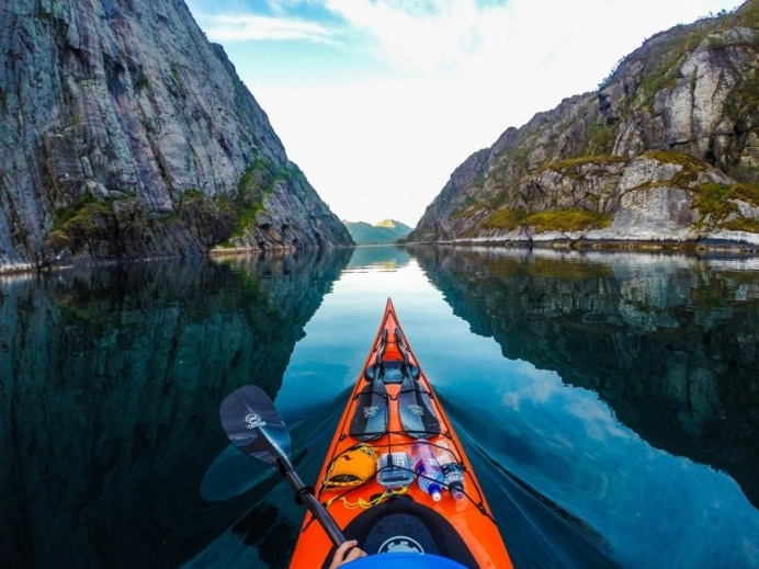 Beauty of Norway as seen from a kayak
