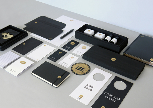 MOON WATER HOME HOTEL BRANDING on Branding Served #branding #gold #black white