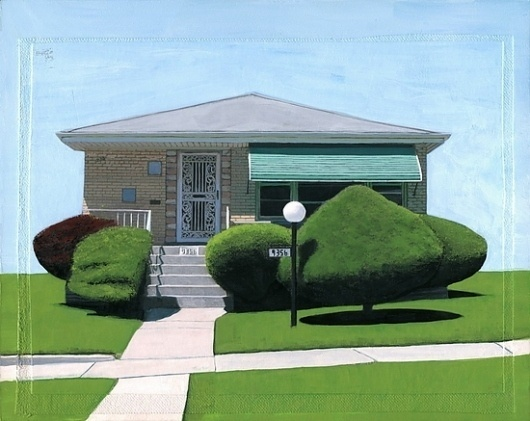 Calumet Series (two) print by Leah Giberson #giberson #house #suburban #leah #painting #art