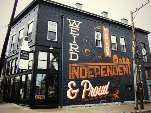 Weird, Independent & Proud by Brian Patrick Todd #type #paint #building #wall