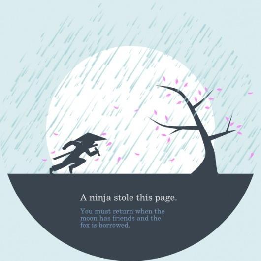 Huwshimi — Page Not Found #website #ninja #illustration #error #404