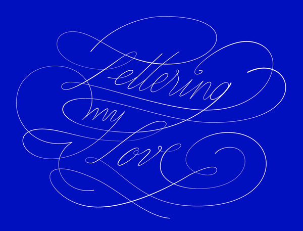 Lettering my love by graphic designer @Andreirobu #typography