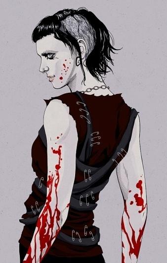 Lisbeth by ~sawayaka on deviantART #illustration #gothic #girl