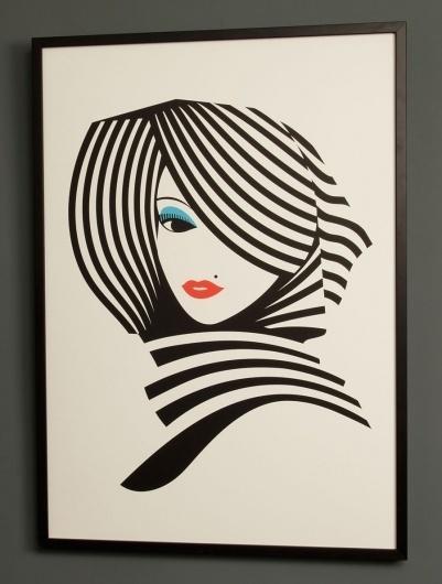 Stripes - malikafavre #simplicity #stripes #favre #malika #illustration