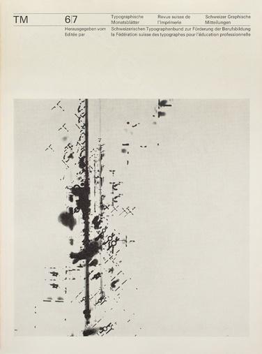 Cover from 1964 Typographische Monatsblätter issue 6/7 #berman #grids #design #cover #felix #typography