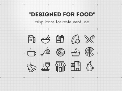 Designed for food - icons #icon #design #graphic #food #ui