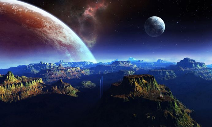 Creative Fantasy Wallpapers Planet Mountain And Pc Image Ideas Inspiration On Designspiration