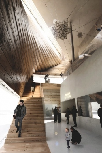 BIG architects' kimball art centre proposal wins competition #rendering