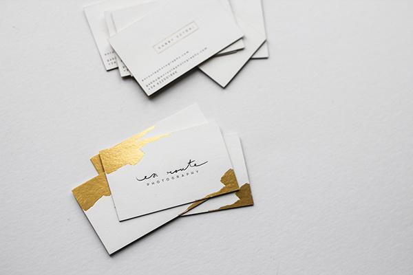 Business Card, stationary, gold, foil, letterpress, minimal, clean