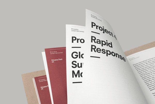 This is Real Art. — Privacy International Prospectus #serif #print #sans #layout #editorial