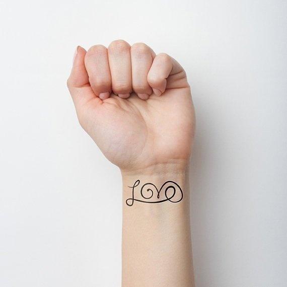Love Temporary Tattoo (Set of 2) #inspiration #tattoo #ink