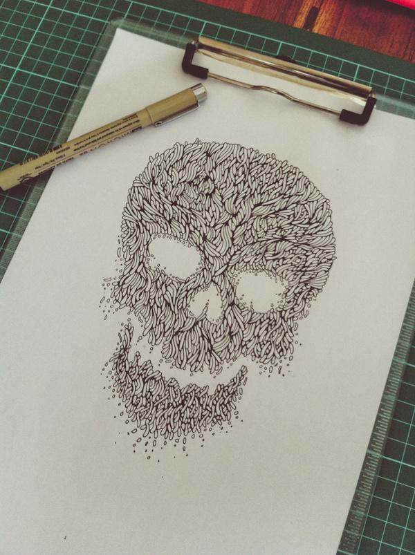 IMG_5362 #line #illustration #art #skull #organic