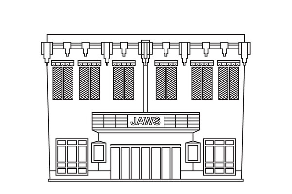 James Kape #line #vector #illustrator #building #architecture