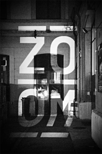 ZOOM – Basle Film Festival & Film Prize ° Identity #projection #blackwhite #poster #typography