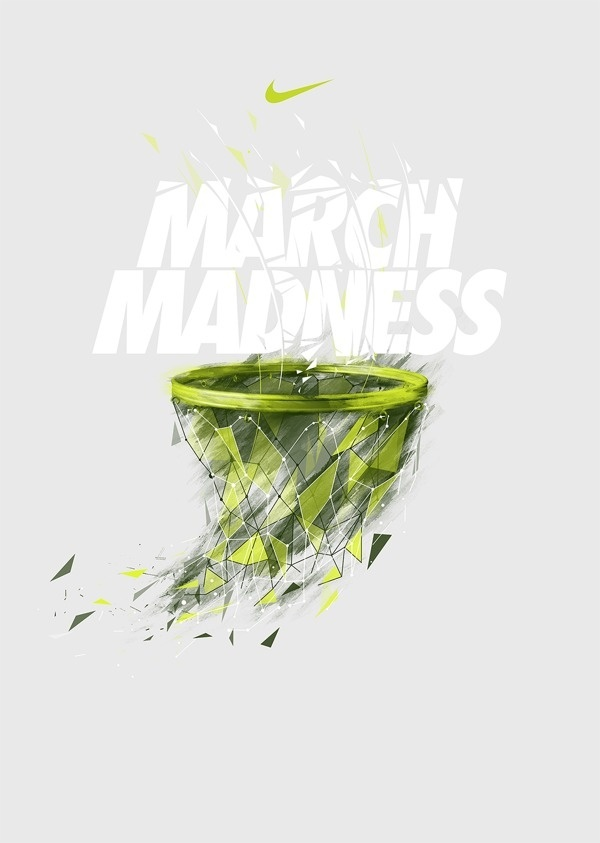 NIKE X NCAA on Behance #bastekball #march #madness #nike #type #net #typography