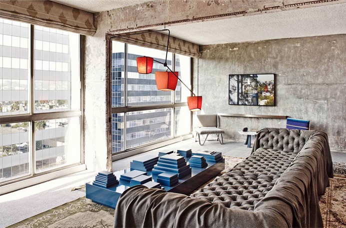 Hotel with Concrete Walls and Vintage Decor - #hotel, #decor, #interior