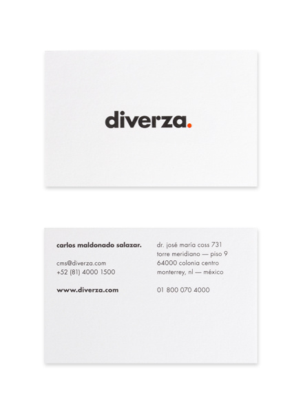 Diverza. by Face. #business #branding #stationary #card #design #logo
