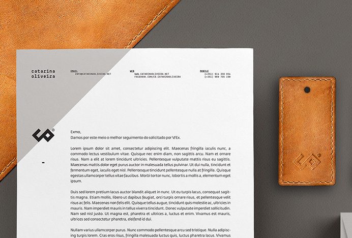 CO – Catarina Oliveira by Another Collective #stationary #branding #letterhead