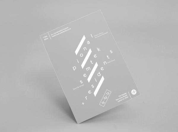 HH_Poster_grey_light_001 #hush #house #flyer #design #grey