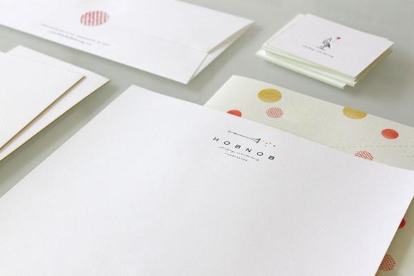 Hob Nob Stationery Package • Stitch Design Co. #branding #envelope #identity #stationery #letterhead #stitch