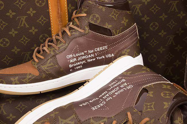 Custom Louis Vuitton x OFF–WHITE x Nike Air Jordan 1