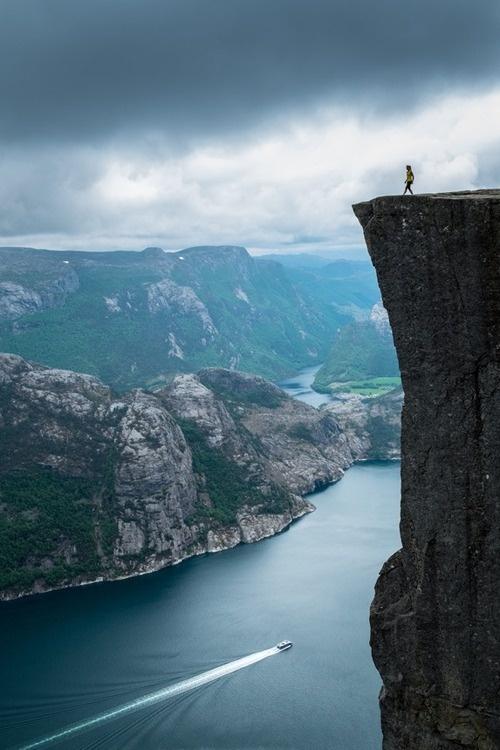 CJWHO ™ (The Norwegian nature at its best, Prekestolen by...) #amazing #norway #perspective #landscape #prekestolen #photography