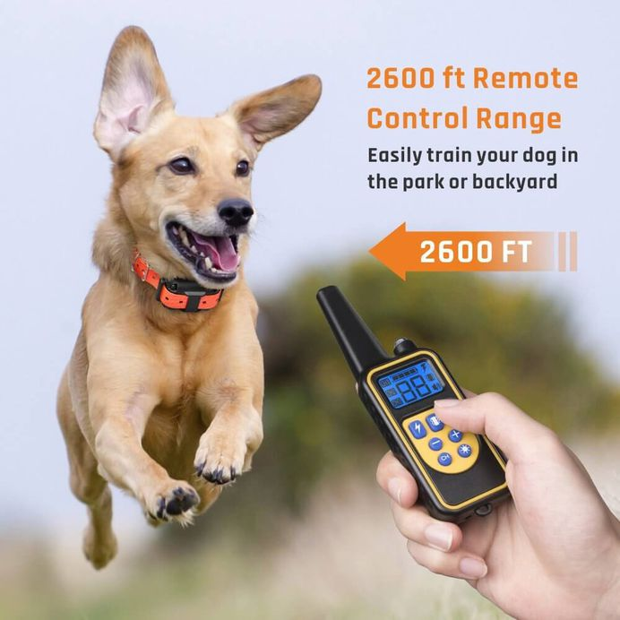 iSPECLE Waterproof Rechargeable 2600ft Remote Dog Shock Collar