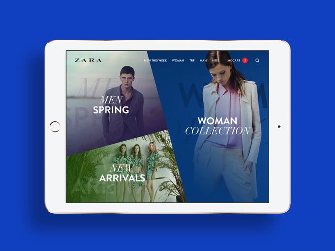 ZARA mobile. #minimalistic #ipad #zara #photography #mobile #fashion #ios