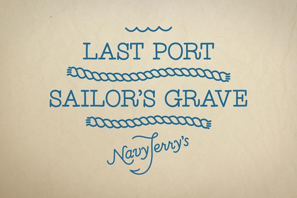 Navy Jerry's on Behance #logo #illustration #monoline #typography