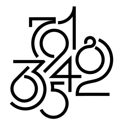 Typeverything.com  Numeric by Robert Lausevic.Via ernestolago #white #black #and #numbers #typography