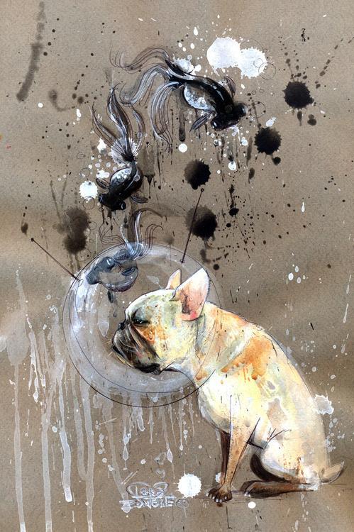 CJWHO ™ (Lora Zombie Black GoldFish Lora Zombie is a...) #lora #mcdonalds #design #illustration #art #zombie