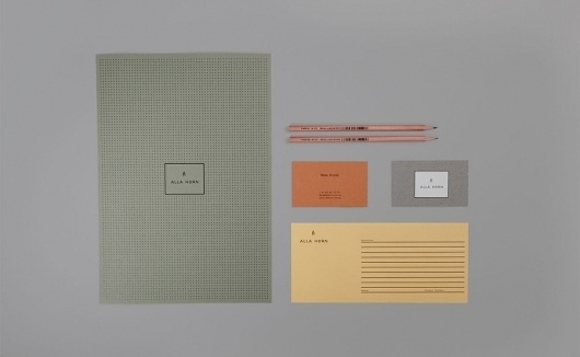 Alla Horn / Marcus Hollands | Design Graphique #design #graphic #identity #stationery