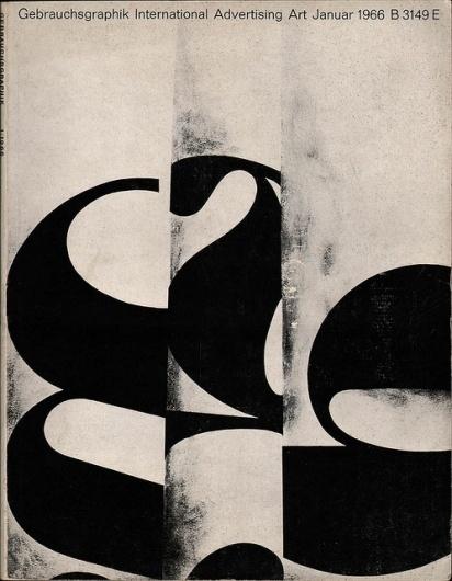 Gebrauchsgraphik No. 1 1966 | Flickr - Photo Sharing! #illustration #design #graphic #typography