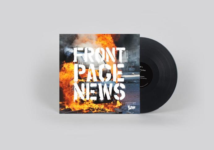 Punkture: Front page news #album #front #page #news #cover #stencil #vinyl #art